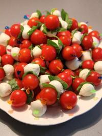 Tomato Basil Skewers Low Calorie