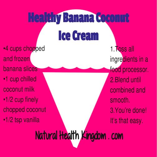 Healthy Banana Coconut Ice Cream Recipe